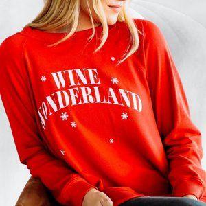 Wildfox Red Wine Wonderland Jumper Sweatshirt